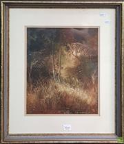 Sale 8595 - Lot 2013 - Peter Fennell (1949 - ) - Bush Meeting, 1983 34 x 26.5cm (frame: 55 x 44.5cm)