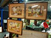 Sale 8622 - Lot 2141 - 3 original watercolours by William Pane, 44 x 53.5cm, each (frame size)