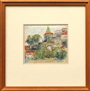 Sale 8668 - Lot 2020 - John Caldwell (1942 - ) -Rosherville Reserve mixed media, 15 x 18.5cm, s.l.r -