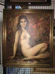 Sale 8750 - Lot 2049 - Seitenakt - Female Nude, 58.5 x 68cm