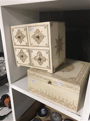 Sale 8789 - Lot 2215 - Chest of Drawers and Trinket Box