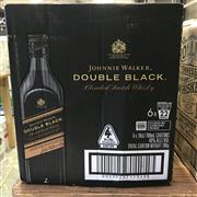 Sale 8801W - Lot 22 - 6x Johnnie Walker Double Black Scotch Whisky, 700ml