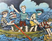 Sale 8984A - Lot 5046 - David Bromley (1960 - ) - Maiden Voyage 72 x 90 cm