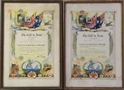 Sale 8994W - Lot 645 - A Pair Of Framed A Call To Arms (47cm x 43cm)