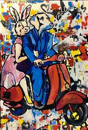 Sale 9072A - Lot 5046 - Gillie and Marc - They were 100 % happy 122 x 81 cm (frame: 104 x 84 cm)