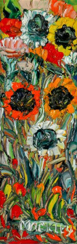 Sale 9093A - Lot 5030 - Evan Mackley (1940 - 2019) - Wild Poppies 37 x 12 cm (frame: 67 x 41 x 4 cm)