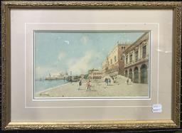 Sale 9106 - Lot 2020 - G. H. Biondetti Venice watercolour, 35 x 47cm (frame), signed lower left -