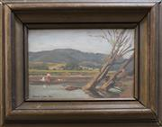 Sale 8342A - Lot 5 - Aradi Evi Ellis - Untitled, River Scene 16 x 23cm