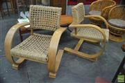 Sale 8310 - Lot 1005 - Rope Chairs by Vibo Vesoul for Audoux-Minet