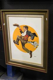 Sale 8349A - Lot 148 - Greg Lipman (1938 - ) - His Pie 59.5 x 34cm
