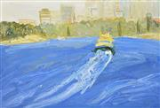 Sale 8374 - Lot 540 - David Wiggs (1964 - ) - From Cremorne to the City 101 x 152cm