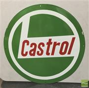 Sale 8435 - Lot 1031 - Enamel Green Castrol Round Sign 61cm Dia
