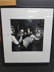 Sale 8762 - Lot 2097 - Framed Photo - Card Players
