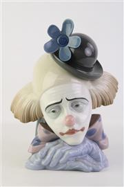 Sale 8810 - Lot 11 - Lladro Bust of a Clown Bowler Hat