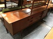 Sale 8859 - Lot 1080 - Quality Younger Teak Sideboard with Central Drawers
