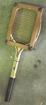 Sale 8319 - Lot 307 - 1960s Tennis racquet in strengthening frame