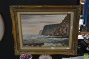 Sale 8525 - Lot 2076 - Artist Unknown, Headlands, Oil,