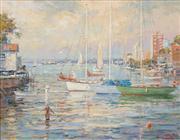 Sale 8583 - Lot 504 - Otto Kuster (1941 - ) - Neutral Bay - Sydney, 1997 39.5 x 49.5cm