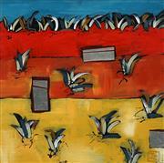 Sale 8645 - Lot 2064 - Julie C Williams - Untitled 30.5 x 30.5cm (frame: 56 x 56cm)
