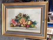 Sale 8767 - Lot 2003 - Artist Unknown - Still Life Fruit, oil on canvas, frame size: 90 x 120, unsigned
