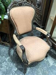 Sale 8822 - Lot 1855 - Careved Grandfather Chair