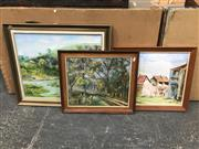 Sale 9019 - Lot 2078 - Group of Assorted Paintings by Marjorie Trodden, framed/various sizes -