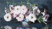 Sale 9038 - Lot 549 - Alan D. Baker (1914 - 1987) - White Roses 28.5 x 51.5 cm (frame: 53 x 76 x 4 cm)