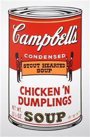 Sale 9072A - Lot 5014 - Andy Warhol - Campbells Soup II - Chicken N Dumplings (11.58 ) 89 x 58 cm (frame: 116 x 85 cm)