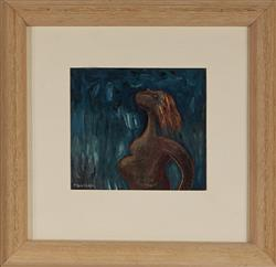 Sale 9096A - Lot 5071 - Christina Cordero (1938 - ) (3 works) - Canto Cuatro; Out of the Blue; Animistic 16 x 16cm; 15 x 15cm (2) (frame sizes)