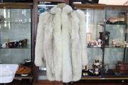 Sale 8288 - Lot 44 - Blue Fox Fur Coat by Bernard Hammerman of Sydney