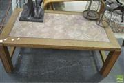 Sale 8289 - Lot 1034 - Marble Inlaid Top Coffee Table