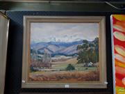 Sale 8609 - Lot 2032 - Olive Beken Grey Day - Korere Valley, oil on canvas laid on board, 45 x 53cm, signed lower right