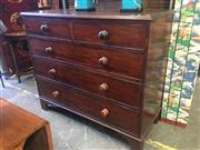 Sale 8787 - Lot 1091 - Georgian Mahogany Chest of 5 Drawers (H: 107 W: 125 D: 54cm)