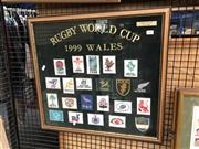 Sale 8789 - Lot 2115 - Rugby World Cup 1999 Wales Cloth Badges 1128/4000