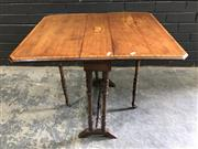Sale 9031 - Lot 1057 - Late Victorian Inlaid Mahogany Sutherland Table, with satinwood paterae & cross-banding, on finely turned legs with stretchers (slig...