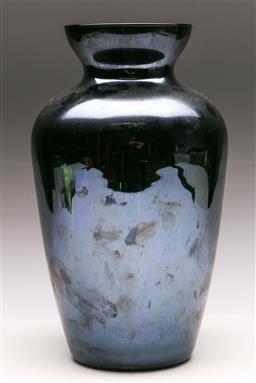 Sale 9131 - Lot 81 - An Italian black glass baluster vase (H: 33cm)