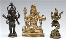 Sale 9173 - Lot 11 - A collection of cast metal religious figures (H:19cm)