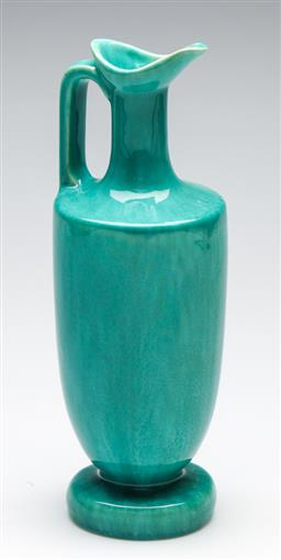 Sale 9246 - Lot 64 - A blue glazed ceramic decanter, Grand Crest Whisky marked to base (H:29cm)