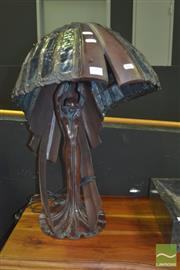 Sale 8331 - Lot 1008 - large Leadlight Table Lamp