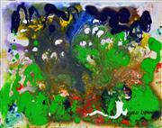 Sale 8349A - Lot 146 - Greg Lipman (1938 - ) - Rainforest Track 25 x 30cm