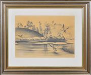 Sale 8349A - Lot 150 - Greg Lipman (1938 - ) - Morning Flight 31 x 43.5cm