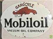 Sale 8435 - Lot 1070 - Enamel Mobiloil Gargoyle Sign 89cm x 60cm