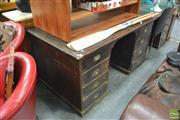Sale 8440 - Lot 1053 - Twin Pedestal Clerks Desk