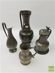 Sale 8439F - Lot 1883 - Collection of Four Various Pewter Jugs