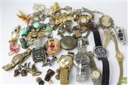 Sale 8521 - Lot 174 - Military Pins And Other Badges Together With Jewellery Incl Watches