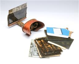 Sale 9093 - Lot 35 - Antique Stereoscope Together with Early Glass Plate Photographs