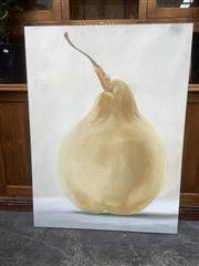 Sale 9091 - Lot 2062 - Fran Allan Still Life - Bosch Pear oil on canvas, 123 x 91cm, signed
