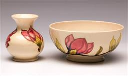 Sale 9107 - Lot 12 - A Moorcroft Bowl (D 16cm) Together with A Matched Bud Vase (H 9.5cm)