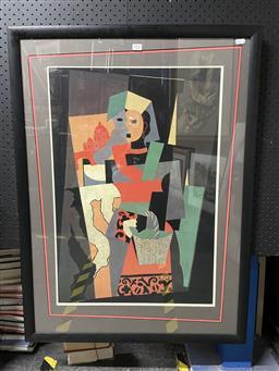 Sale 9127 - Lot 2036 - Pablo Picasso Italian Girl, decorative print, frame: 90 x67 cm -