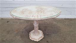 Sale 9157 - Lot 1053 - Heavily carved oriental side table (h:48 x w:68 xd:38cm)